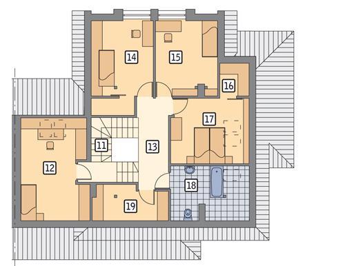 Rzut poddasza POW. 106,3 m²