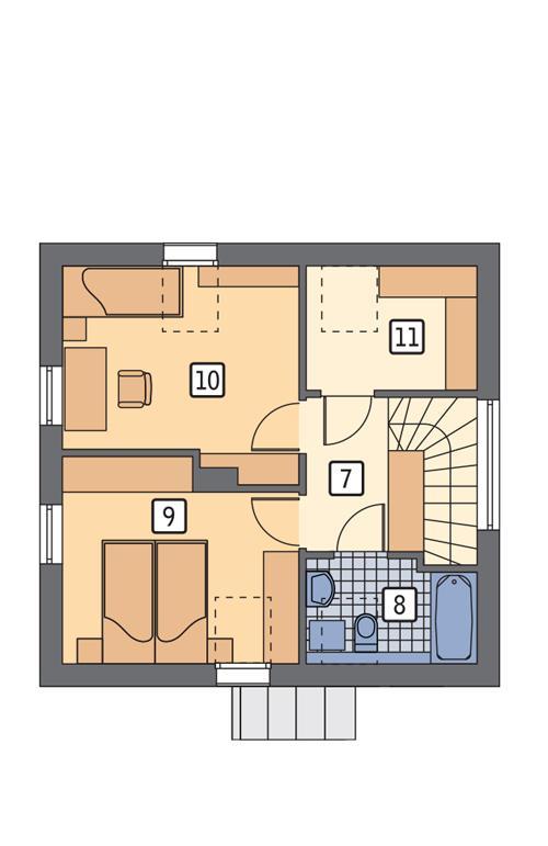 Rzut poddasza POW. 44,2 m²