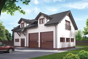 Budynek garażowo-magazynowy z pom. pomocniczymi i poddaszem mieszkalnym