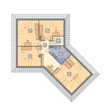 RZUT PODDASZA POW. 72,0 m²